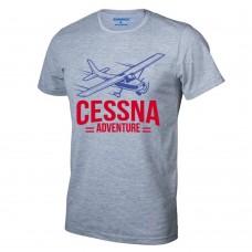 Футболка Cessna-Adventure, цвет: серый меланж, AVIAMERCH™