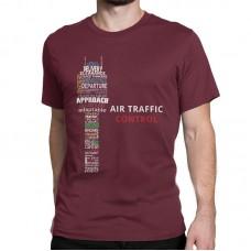 "Футболка ""Air traffic controll"" Цвет: бордовый"
