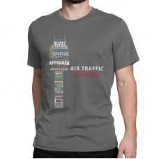 "Футболка ""Air traffic controll"" Цвет: тёмно-серый"