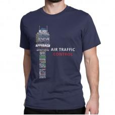 """Футболка """"Air traffic controll"""" Цвет: тёмно-синий"""