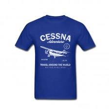 "Футболка ""Cessna"" Цвет: blue"