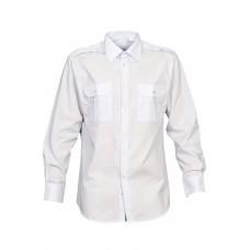 """Рубашка (сорочка) форменная с длинным рукавом белая """"Стандарт"""" Куртаж™"""