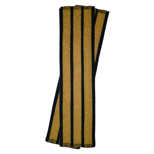 Галун нарукавный 3 полосы золотые Куртаж™