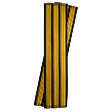 Галун нарукавный 3 полосы золотые (французская лента) Куртаж™