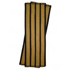 Галун нарукавный 4 полосы золотые Куртаж™