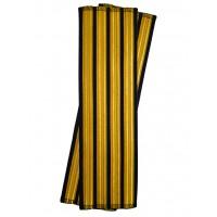 Галун нарукавный 4 полосы золотые (французская лента) Куртаж™