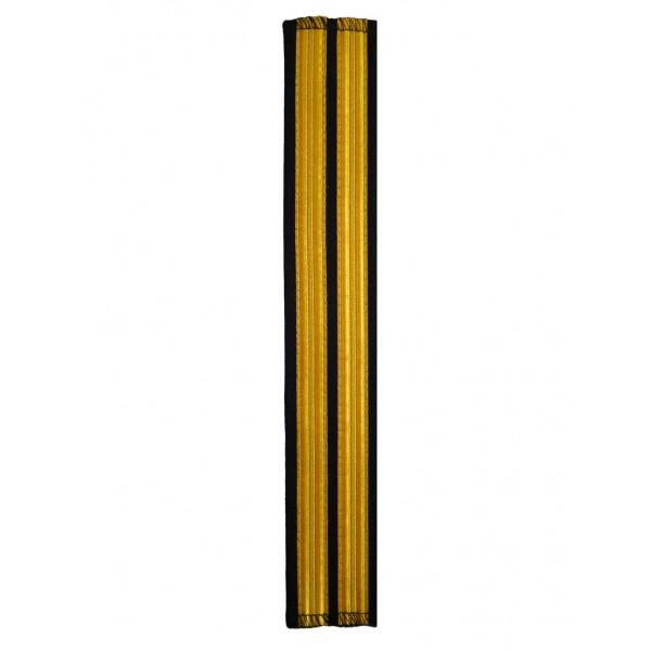 Галун нарукавный 2 полосы золотые (французская лента) Куртаж™