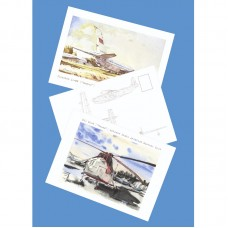 Набор из 12 авиационных открыток