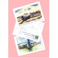 Набор из 6 авиационных открыток