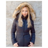 Женский пуховик TOP GUN™ INSULATED LIGHTWEIGHT LONG COAT WITH REMOVABLE HOOD, black