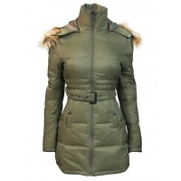Женский пуховик TOP GUN™ INSULATED LIGHTWEIGHT LONG COAT WITH REMOVABLE HOOD, olive