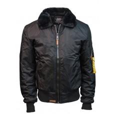Куртка-бомбер Top Gun™ B-15 Men's Heavy Duty Vintage, чёрная