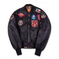 Куртка-бомбер Top Gun™ MA-1 Nylon Bomber Jacket with Patches, black
