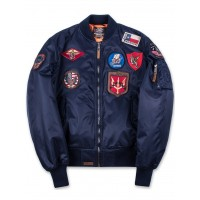Куртка-бомбер Top Gun™ MA-1 Nylon Bomber Jacket with Patches, blue