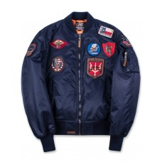 Куртка-бомбер Top Gun™ MA-1 Nylon Bomber Jacket with Patches, blue