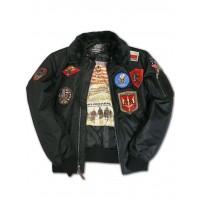 Куртка лётная Top Gun™ Official B-15 Flight Bomber Jacket with Patches, black