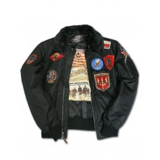 Куртка лётная Top Gun™ Official B-15 Flight Bomber Jacket with Patches, black