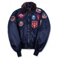 Куртка лётная Top Gun™ Official B-15 Flight Bomber Jacket with Patches, blue