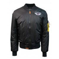 """Куртка-бомбер Top Gun™ Official MA-1 """"WINGS"""" bomber jacket with patches, black"""