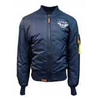 """Куртка-бомбер Top Gun™ Official MA-1 """"WINGS"""" bomber jacket with patches, blue"""