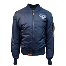 "Куртка-бомбер Top Gun™ Official MA-1 ""WINGS"" bomber jacket with patches, blue"
