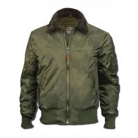 Куртка-бомбер Top Gun™ B-15 Men's Heavy Duty Vintage, оливковая