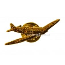 Spitfire значок - самолёт металлический