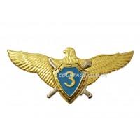 Пилот 3-го класса ВВС Украины -  значок металлический