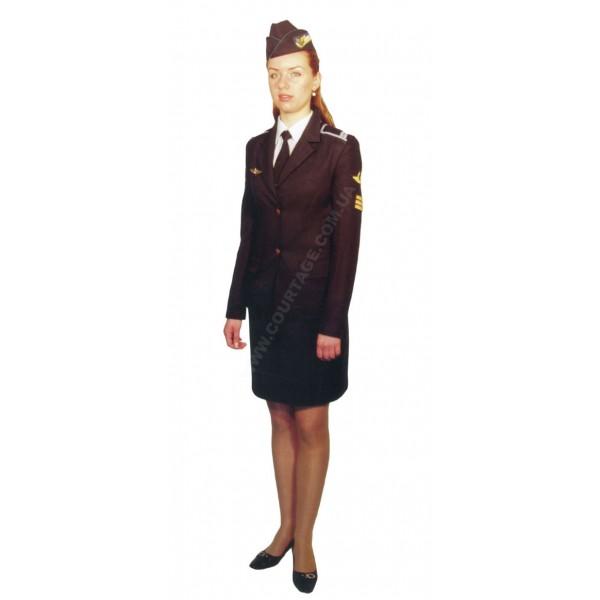 Костюм форменный курсантский гражданской авиации женский (китель и юбка) Куртаж™